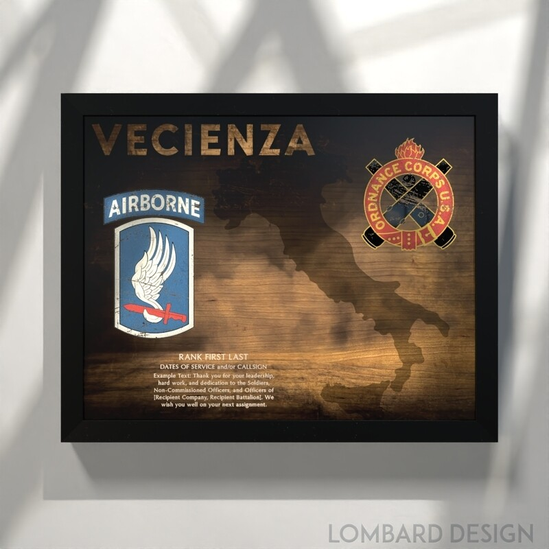 173rd Airborne - Ordnance Corps Plaque - 20.5