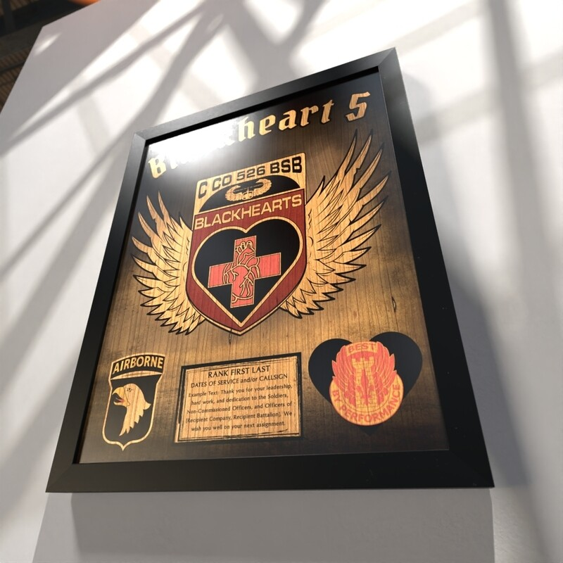 """Blackhearts C Co 526 BSB Plaque - Stained Version - 20.5""""x16.5"""""""