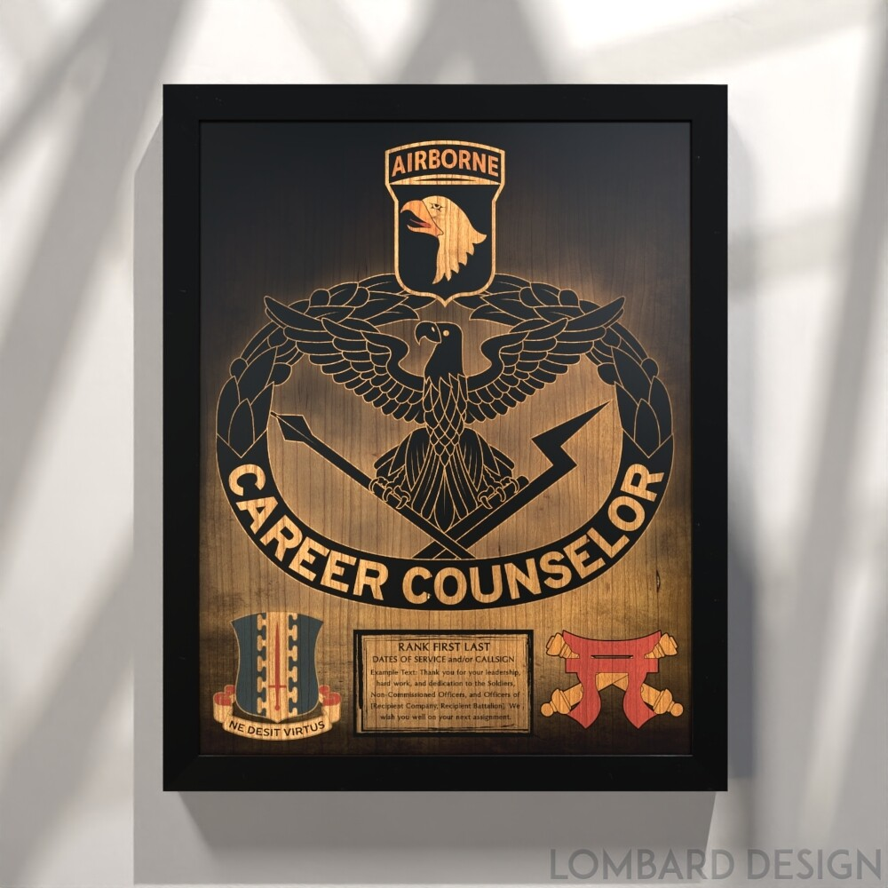 "Career Counselor Stained Wood Plaque- 20.5""x16.5"""