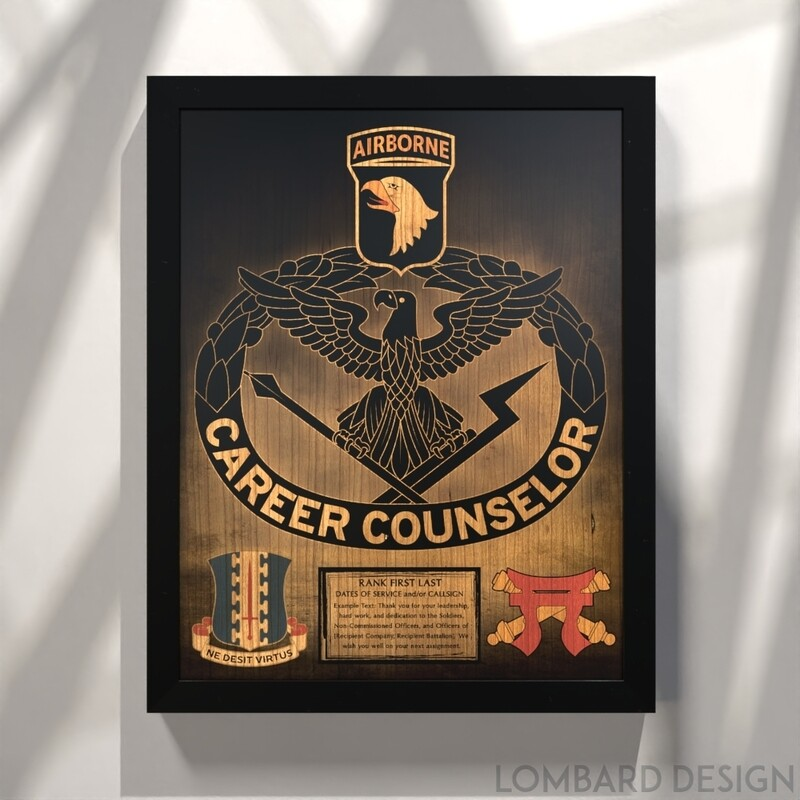 Career Counselor Stained Wood Plaque- 20.5