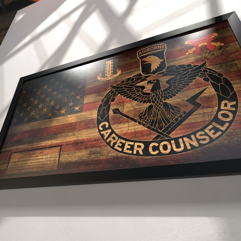 Career Counselor Rustic Flag Plaque - 28.5