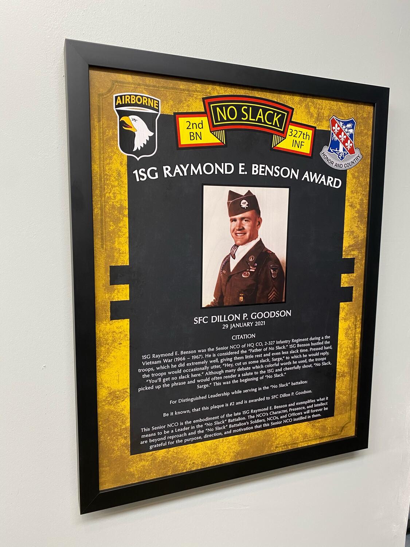 """Raymond E. Benson Award 2-327th Plaque - 20.5""""x16.5"""""""