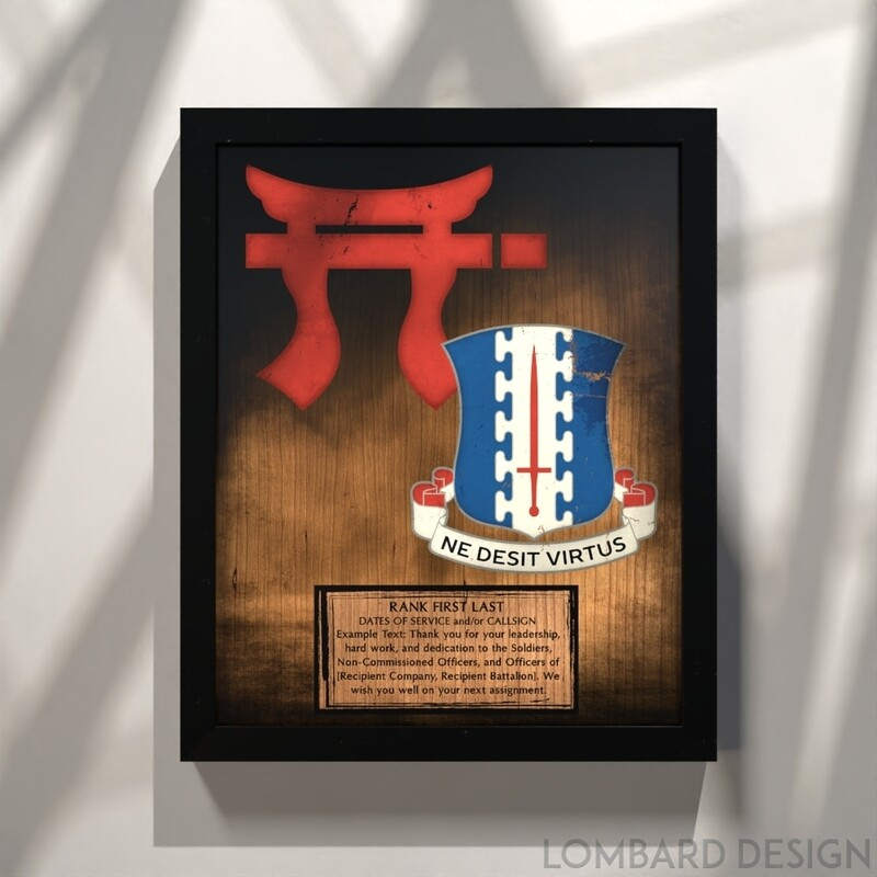 1-187th Rustic Stained Wood Plaque 13