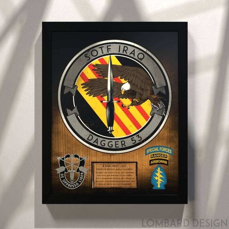 """3rd Battalion 5th Group Stained/Painted Wood Plaque - 20.5""""x16.5"""""""
