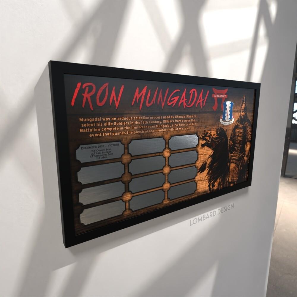 """Iron Mungadai Perpetual Plaque - 28.5""""x15.75"""""""