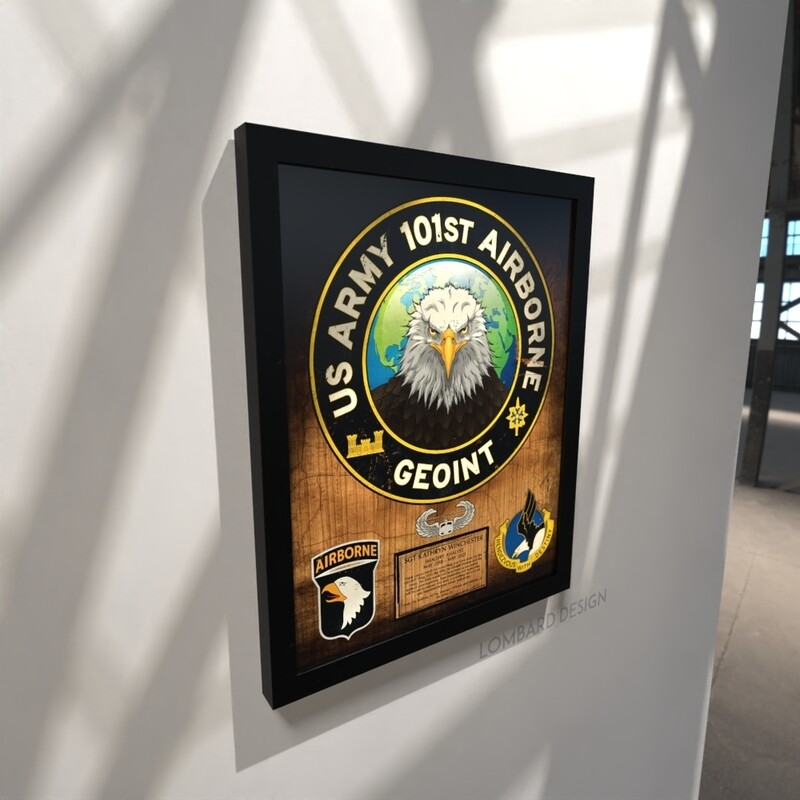 101st Airborne GEOINT Wood Plaque - 16.5
