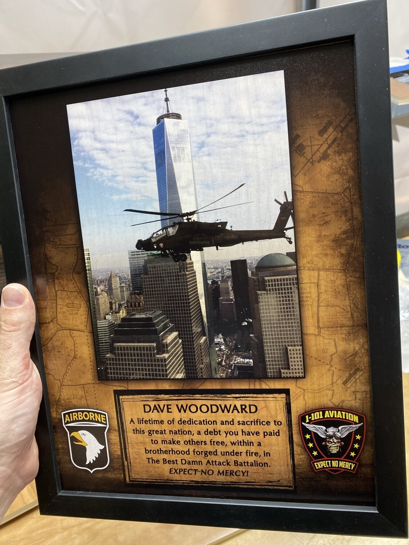 "Unit plaque with your photo - 11""x13"""