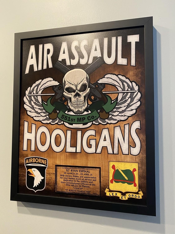 """551st MP Co Hooligans Plaque - 20.5""""x16.5"""""""