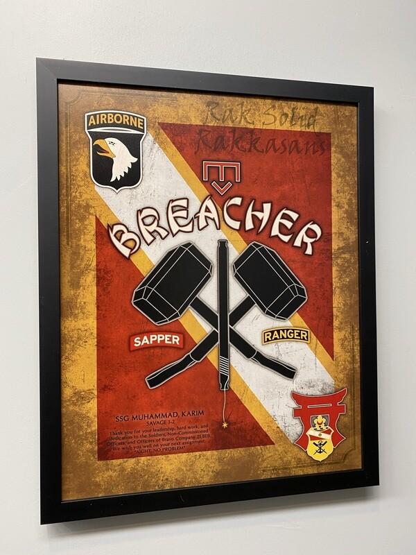 "Breacher 21 BEB Plaque - 20.5""x16.5"""