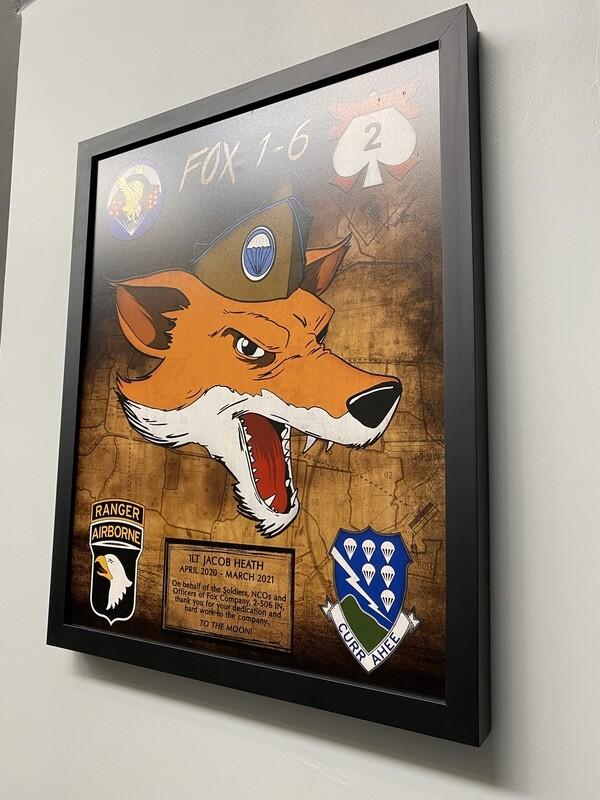 "Fox Company 2-506 IN Wood Plaque - 16.5""x20.5"""