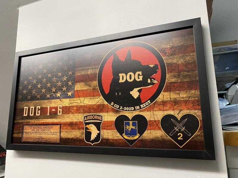 """DOG Company 2-502D Rustic Flag Plaque - 28.5""""x15.75"""""""