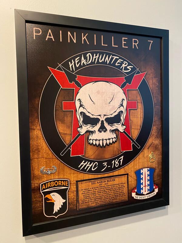 "Headhunter 3-187 Plaque - 20.5""x16.5"""