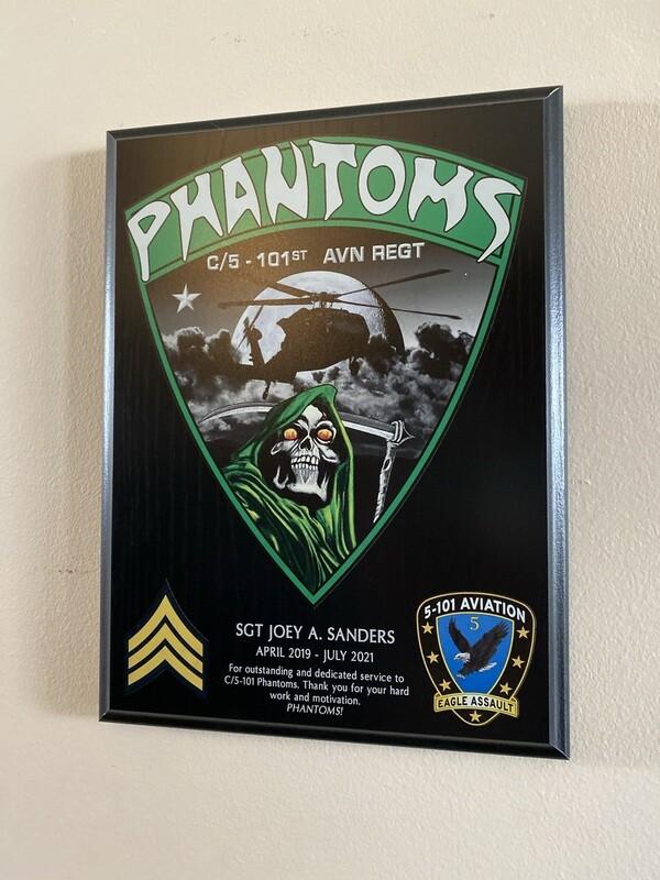 """C Co """"Phantoms"""" 5-101 AVN - 9""""x12"""" Plaque"""