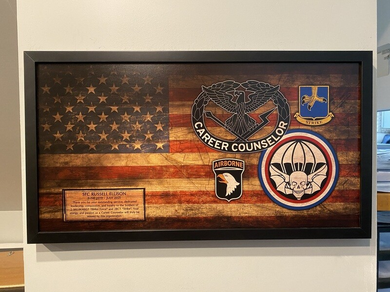 """Career Counselor Rustic Flag Plaque - 28.5""""x15.75"""""""