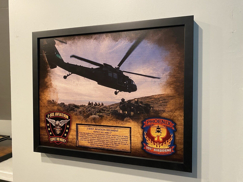 """A Co """"Phoenix"""" 1-101 AVN Wood Plaque - 16.5""""x20.5"""""""