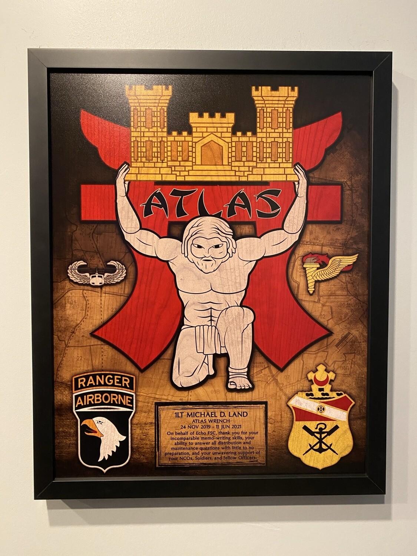 """E FSC """"Atlas"""" 21 BEB Wood Plaque - 16.5""""x20.5"""""""