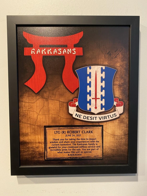 "3BCT ""Rakkasans"" Wood Plaque 11""x13"""