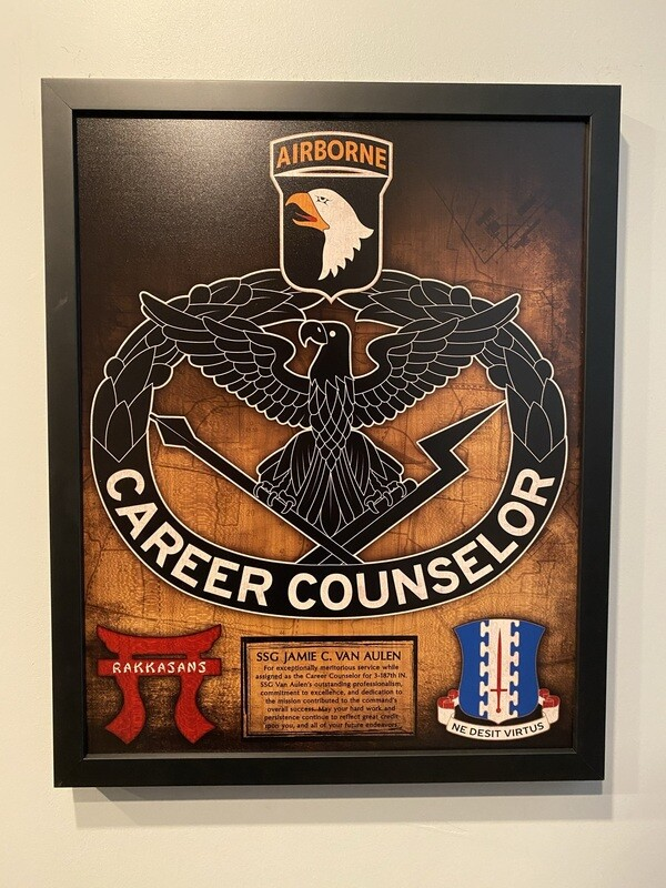"""Career Counselor Wood Plaque - 16.5""""x20.5"""""""