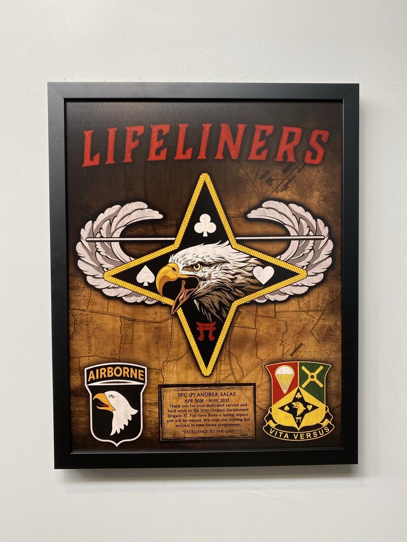 "101st Division Sustainment Brigade Plaque - Stained - 16.5""x20.5"""