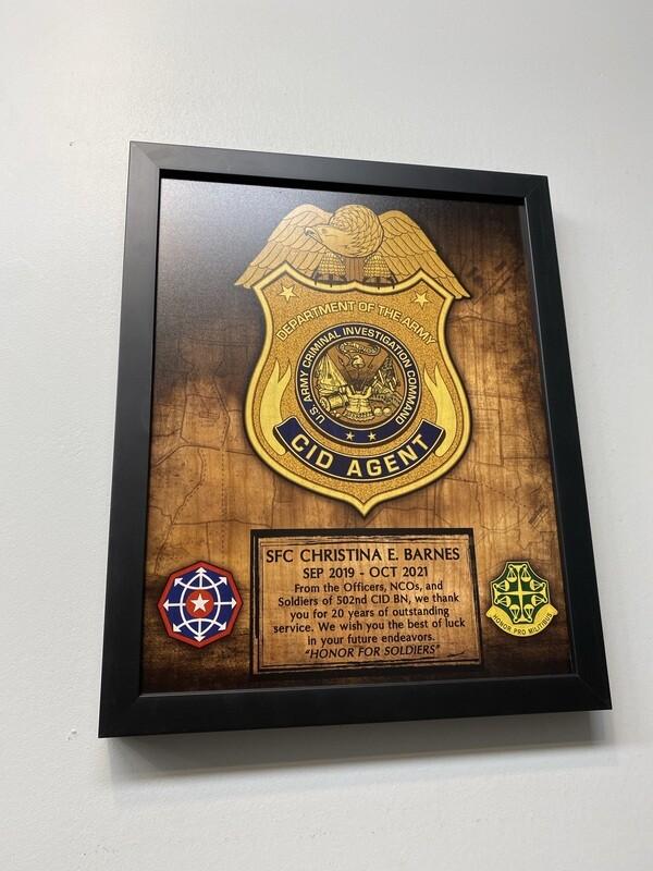"502nd CID Wood Plaque 11""x13"""
