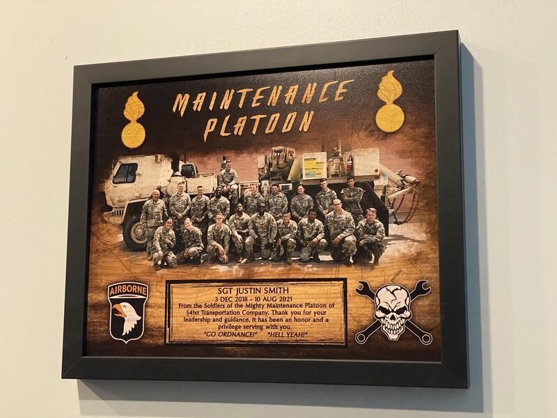 "541st TC Maintenance Platoon Wood Plaque 11""x13"""