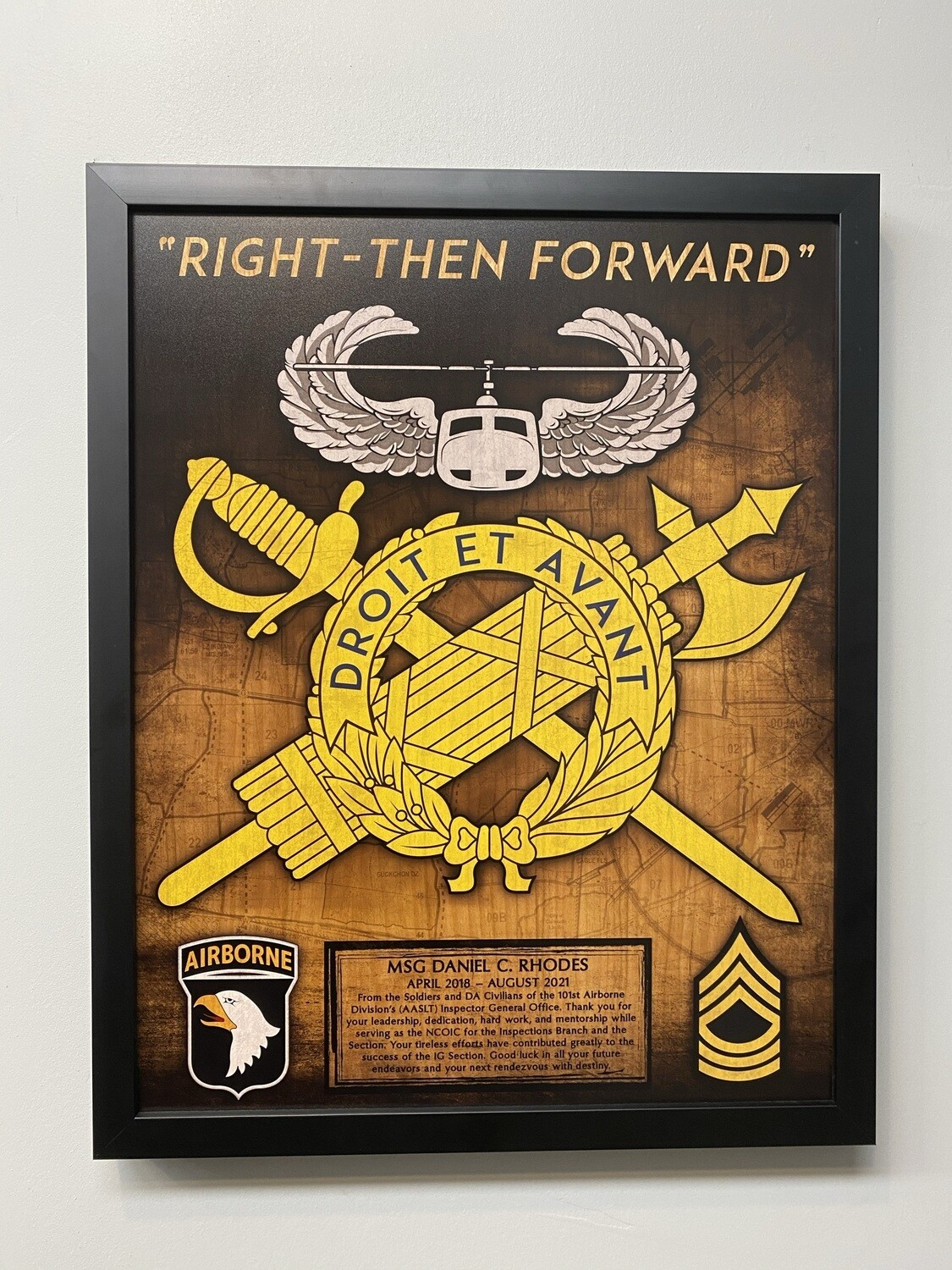 """Office of the Inspector General Wood Plaque - 16.5""""x20.5"""""""