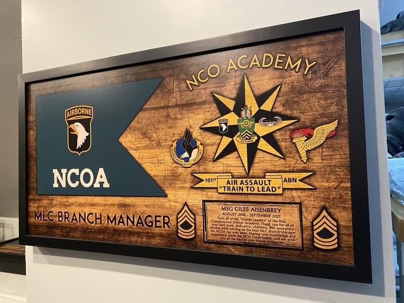 "NCO Academy Wood Plaque - 28.5""x15.75"""