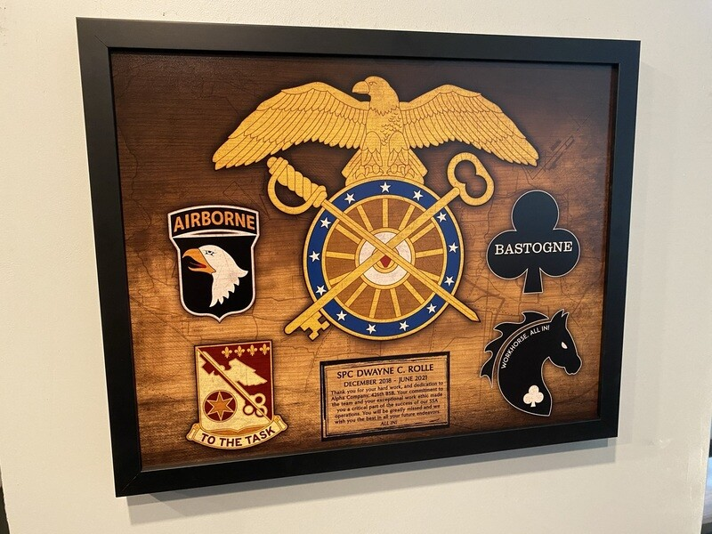 "426 BSB Quartermaster Wood Plaque - 16.5""x20.5"""