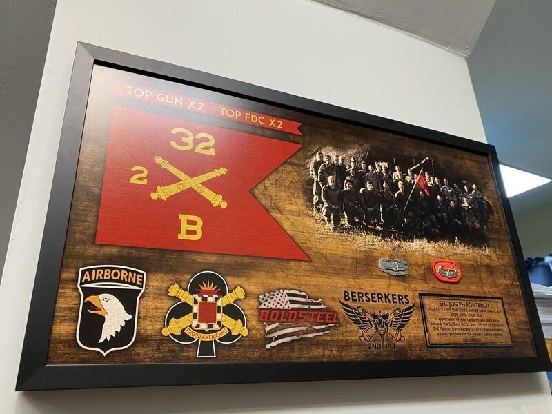 "Bravo Battery ""Boldsteel"" 2-32 FA Plaque - 28.5""x15.75"""