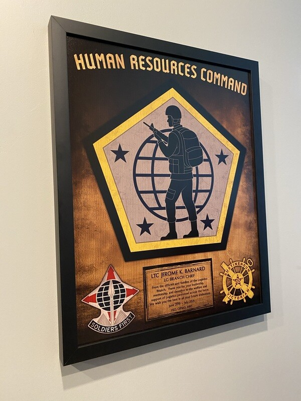 """Human Resources Command Wood Plaque - 16.5""""x20.5"""""""