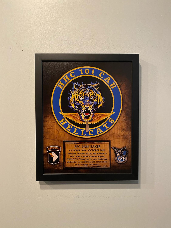 "HHC ""Hellcats"" 101 CAB Wood Plaque - 11""x13"""