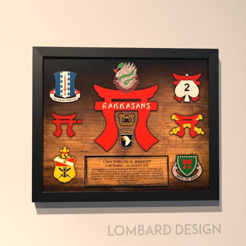 """626 BSB Rustic Wood Plaque - 11""""x13"""""""