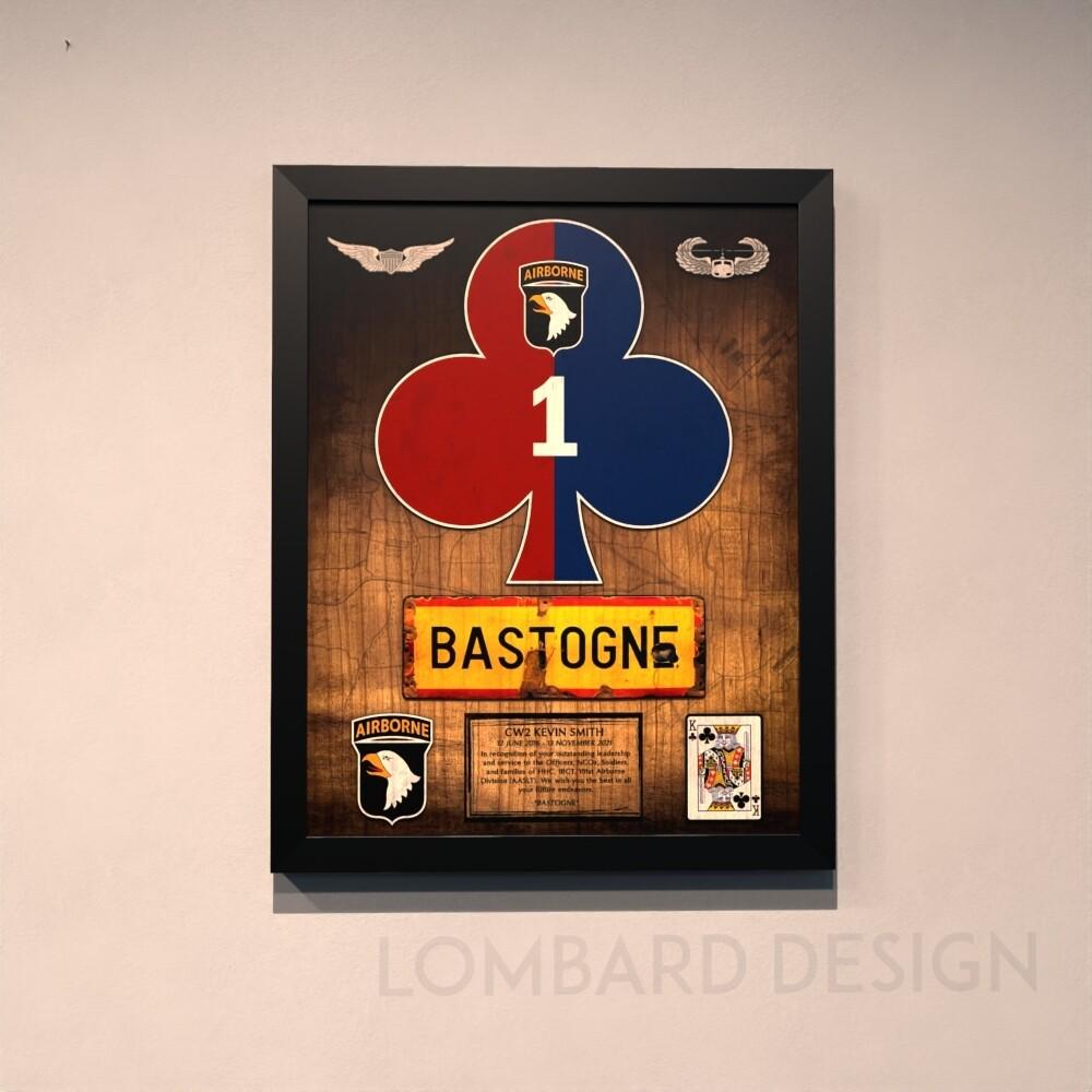 """HHC 1BCT """"Bastogne"""" Wood Plaque - 20.5""""x16.5"""""""