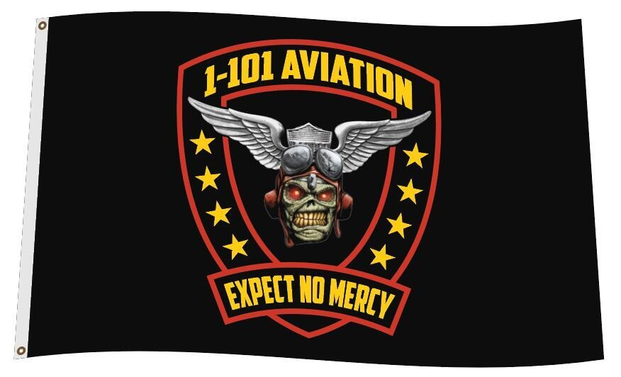 "1-101 Aviation ""Expect No Mercy"" 3'x5' Flag"