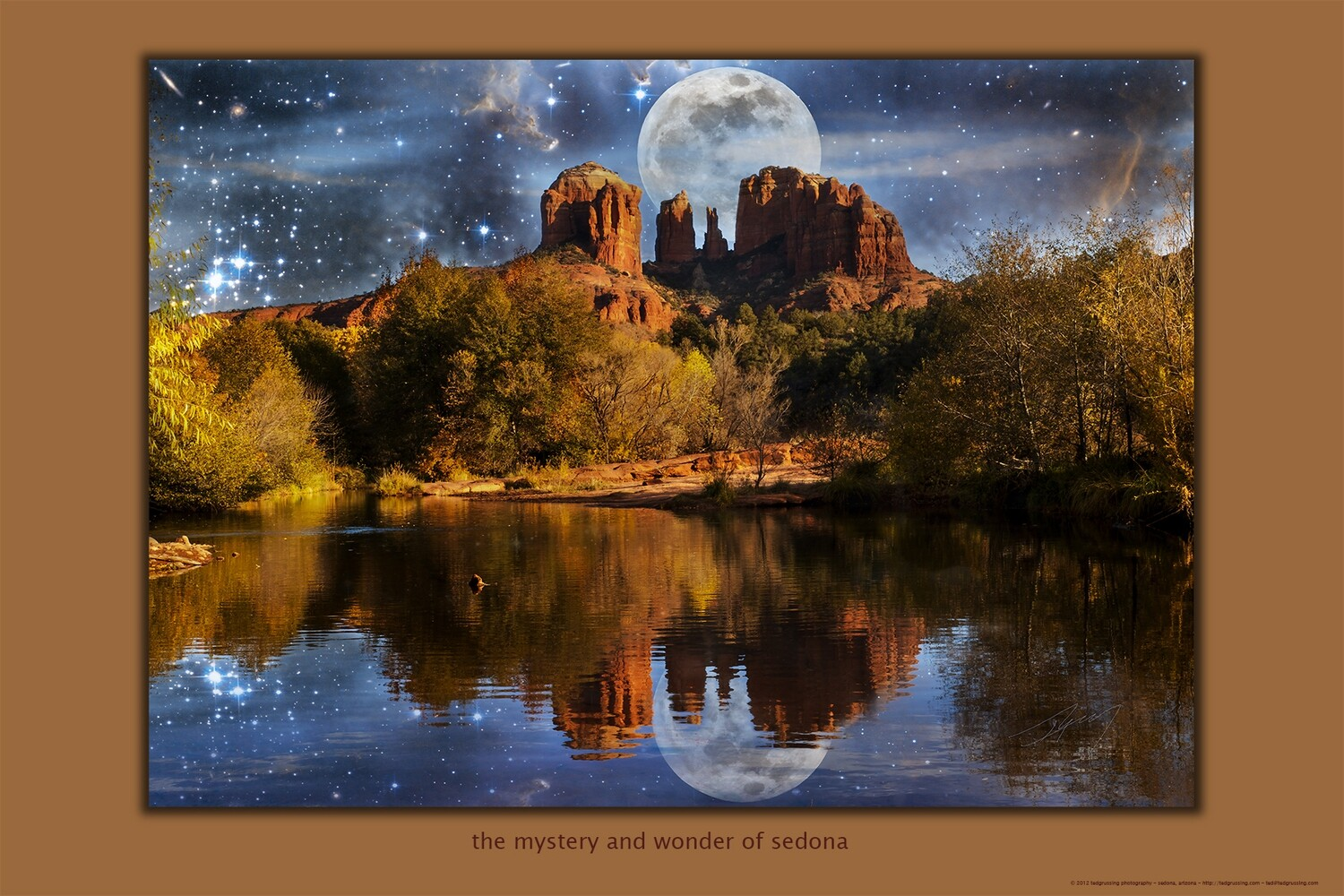 "Mystery and Wonder of Sedona 30"" x 20"" Poster"