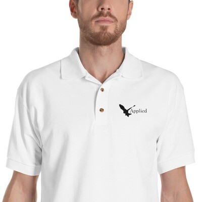 ON SALE Applied Embroidered Polo Shirt