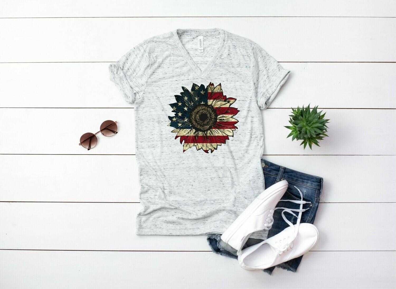 Patriotic Sunflower