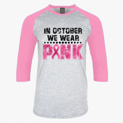 In October, We wear PINK