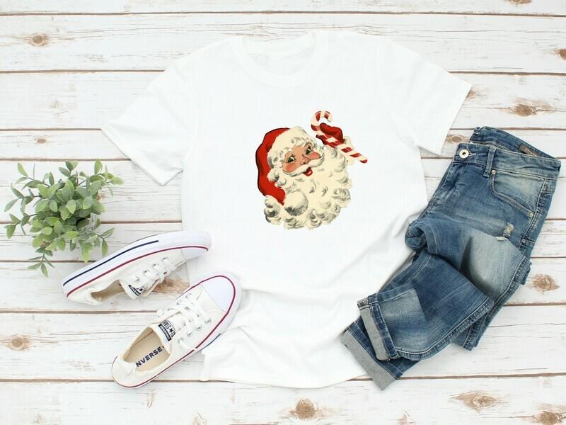 Vintage Santa White