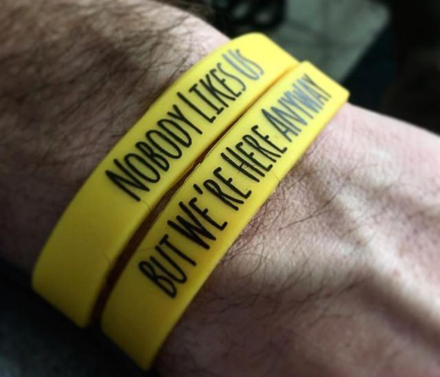 Nobody Likes Us Wristband