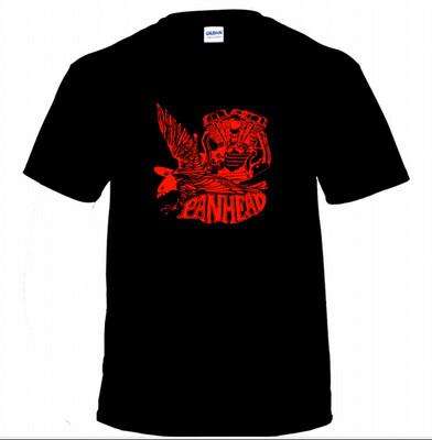 Panhead Print In Red On Black