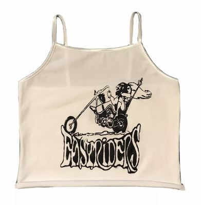Easyriders Cropped White Tank