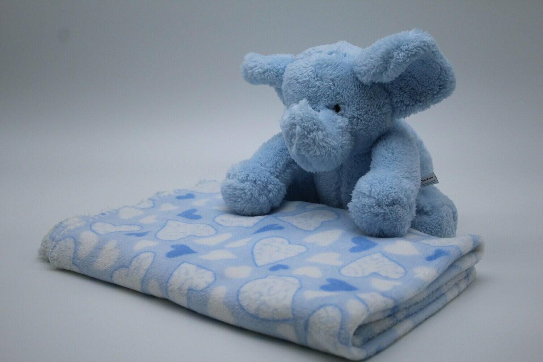 Baby Geschenk Set Decke Plusch Elefant
