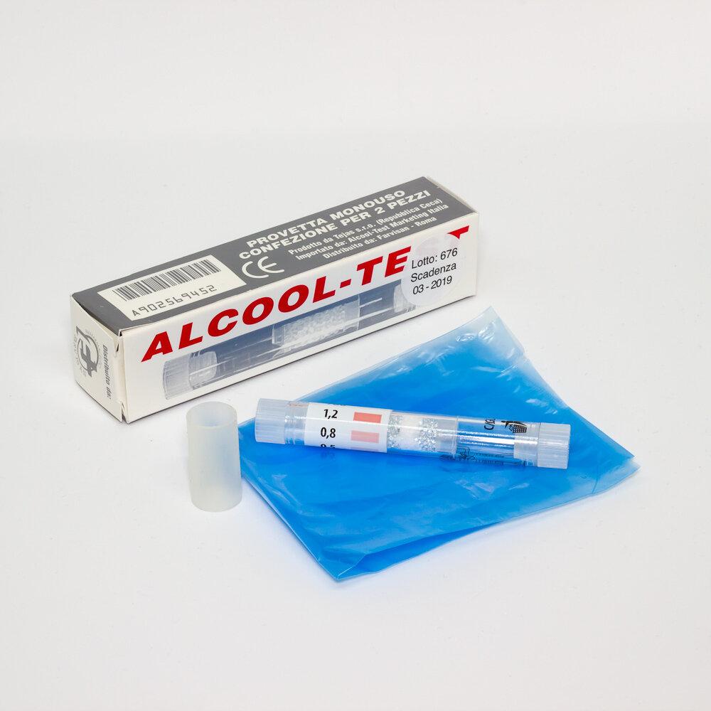 Alcool - test ( provette x 2 pezzi )