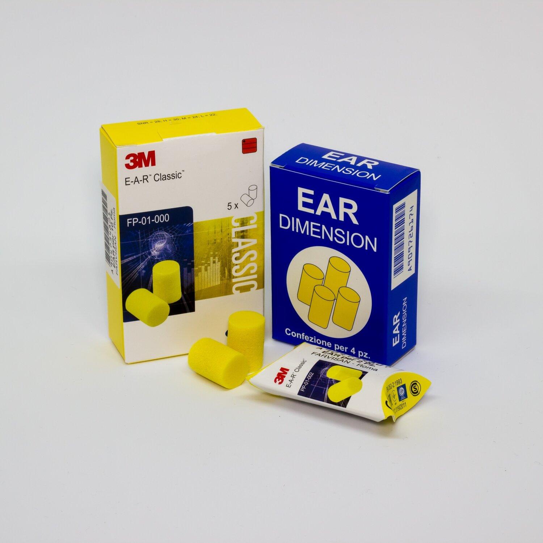 Tappi auricolari - Ear - Confezione da 4 pezzi