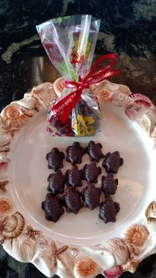 4 Bags of Tiny Chocolate Turtles -- Stocking Stuffers!