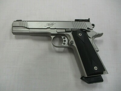 57 Kimber mod Stainless Target II semi auto pistol