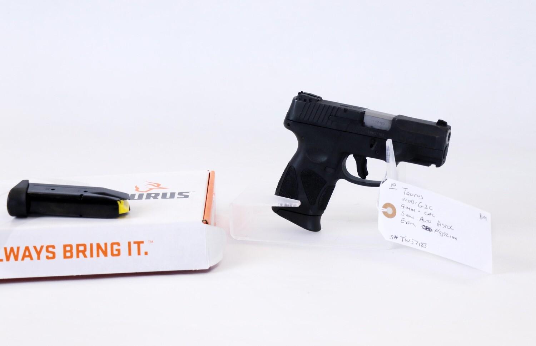 10 Taurus mod-G2C 9mm semi auto pistol
