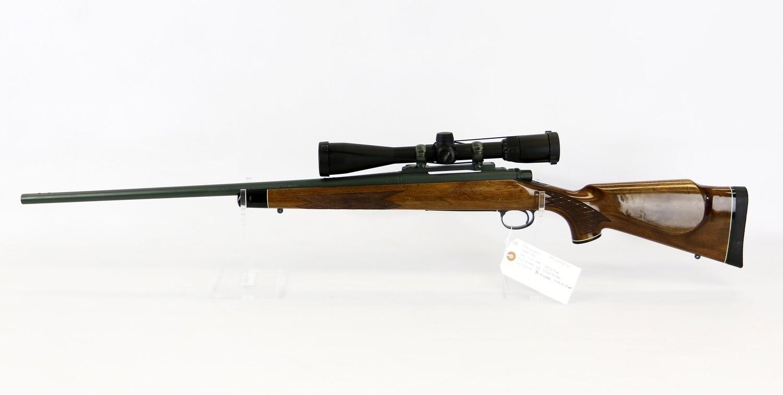 24 Remington mod 700 300 win mag B/A rifle OD Green BBL+ receiver w/Nikon �Buckmaster 4.5x14 scope ser# L6543787