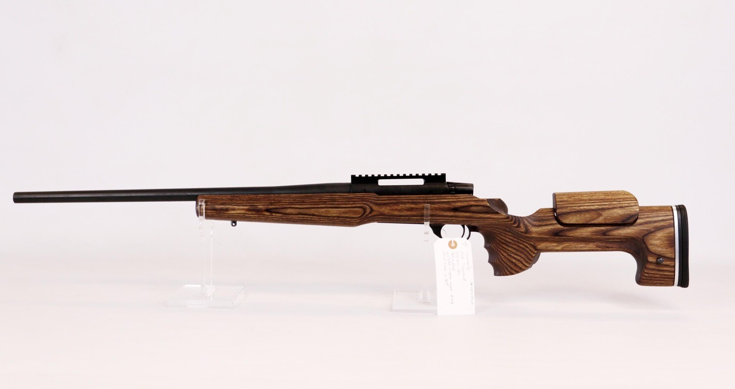 54 Weatherby mod Vanguard 308 win cal B/A rifle w/GRS custom wood stock small crack in butt ser# 	VB128920
